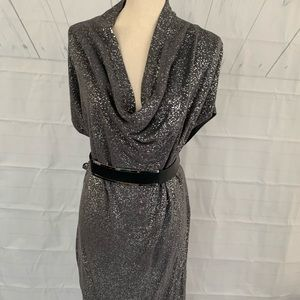 Calvin Klein- XL silver party dress